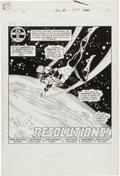 Original Comic Art:Splash Pages, Joe Staton and Frank McLaughlin Green Lantern #151 Page 1Original Art (DC, 1982)....