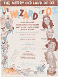 "Memorabilia:Movie-Related, Wizard of Oz ""The Merry Old Land of Oz"" Sheet Music (LeoFeist Inc., 1939)...."