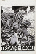 Original Comic Art:Splash Pages, Virgil Redondo Planet of the Apes #28 Page 31 Original Art(Marvel, 1977)....