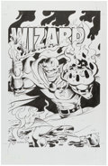 Original Comic Art:Covers, Val Semeiks Unused Wizard Magazine Demon Cover Original Art(Wizard, 1992).... (Total: 2 Original Art)