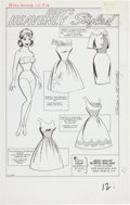 Original Comic Art:Splash Pages, Al Hartley Patsy Walker #109 Page 12 Original Art (Marvel,1963)....