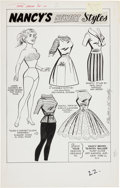 Original Comic Art:Splash Pages, Al Hartley Patsy Walker #105 Page 22 Original Art (Marvel,1963). ...