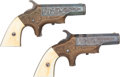 Handguns:Derringer, Palm, Pair of Rare Factory Engraved Southerner Single-Shot Derringers.... (Total: 2 Items)