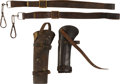 Military & Patriotic:Civil War, Pair of Indian Wars Period Era Cavalry Carbine Slings and Scabbards.... (Total: 4 Items)
