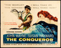 "Movie Posters:Action, The Conqueror (RKO, 1956). Half Sheet (22"" X 28"") Style B. Action....."