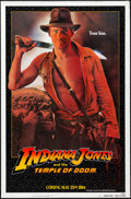 "Movie Posters:Adventure, Indiana Jones and the Temple of Doom (Paramount, 1984). One Sheet(27"" X 41"") Advance - White Border. Adventure.. ..."