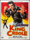 "Movie Posters:Elvis Presley, King Creole (Rene Chateau, R-1978). Video French Grande (47"" X63""). Elvis Presley.. ..."