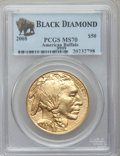 Modern Bullion Coins, 2008 $50 One-Ounce Gold Buffalo MS70 PCGS. .9999 Fine. Ex: BlackDiamond. PCGS Population (488). NGC Census: (7472).. Fro...