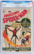Silver Age (1956-1969):Superhero, The Amazing Spider-Man #1 (Marvel, 1963) CGC FN+ 6.5 Off-white to white pages....