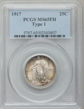 Standing Liberty Quarters: , 1917 25C Type One MS65 Full Head PCGS. PCGS Population (988/440).NGC Census: (726/374). Mintage: 8,740,000. Numismedia Wsl...
