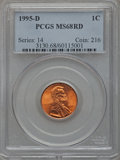 Lincoln Cents: , 1995-D 1C MS68 Red PCGS. PCGS Population (60/1). NGC Census:(50/7). Numismedia Wsl. Price for problem free NGC/PCGS coin ...