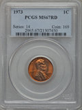 Lincoln Cents: , 1973 1C MS67 Red PCGS. PCGS Population (30/0). NGC Census: (0/0).Numismedia Wsl. Price for problem free NGC/PCGS coin in ...