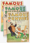 Golden Age (1938-1955):Miscellaneous, Famous Funnies Box Lot (Eastern Color, 1939-45)....