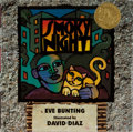 Books:Children's Books, [Children's Illustrated]. David Diaz [illustrator]. Eve Bunting.INSCRIBED. Smoky Night. Harcourt Brace, 1994. Third...