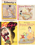 Memorabilia:Disney, Snow White and the Seven Dwarfs Magazine and Story BookGroup (1938),... (Total: 4 Items)