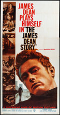 """Movie Posters:Documentary, The James Dean Story (Warner Brothers, 1957). Three Sheet (41"""" X 78""""). Documentary.. ..."""