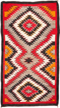 Other, A NAVAJO REGIONAL RUG. Red Mesa. c. 1940...