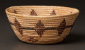 American Indian Art:Baskets, A TULARE COILED BOWL...