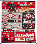 Other, A NAVAJO PICTORIAL WEAVING. Helen M. Johnson. c. 1980. ...