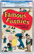 Platinum Age (1897-1937):Miscellaneous, Famous Funnies: A Carnival of Comics #nn With Original MailingEnvelope (Eastern Color, 1933) CGC VG/FN 5.0 Cream to off-white...