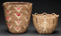 American Indian Art:Baskets, TWO NORTHWEST COAST IMBRICATED BASKETS. c. 1910... (Total: 2 Items)