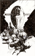 Original Comic Art:Covers, Star Wars Bounty Hunters Illustration Original Art(1998)....