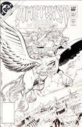 Memorabilia:Miscellaneous, George Perez and Ernie Colon Amethyst, Princess of Gemworld #6 Cover Production Piece (DC, 1983)....
