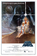 "Memorabilia:Poster, Star Wars Style ""A"" One Sheet Movie Poster (20th CenturyFox, 1977)...."