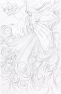 Original Comic Art:Miscellaneous, James Jean Fables #58 Cover Pencil Preliminary Original Art(DC/Veritigo, 2007)....