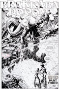 Original Comic Art:Splash Pages, Gil Kane and George Perez Jurassic Park #3 Splash Page 28 OriginalArt (Topps Comics, 1993)....