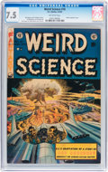 Golden Age (1938-1955):Science Fiction, Weird Science #18 (EC, 1953) CGC VF- 7.5 Off-white pages....
