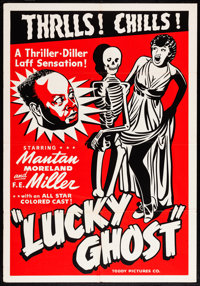 """Lucky Ghost (Toddy, R-1948). One Sheet (28"""" X 41""""). Black Films"""
