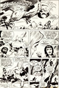 Original Comic Art:Panel Pages, Jack Kirby and Mike Royer Kamandi, the Last Boy on Earth #40Giant Cockatoo Page 4 Original Art (DC, 1976)....