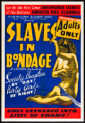 """Movie Posters:Crime, Slaves in Bondage (Roadshow Attractions, 1937). One Sheet (28"""" X41""""). Crime.. ..."""