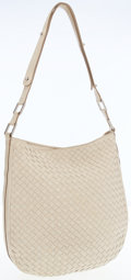Luxury Accessories:Bags, Bottega Veneta Cream Intrecciato Leather Shoulder Bag. ...