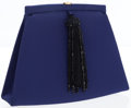 Luxury Accessories:Bags, Christian Dior Blue Satin Evening Clutch Bag with Beaded Tassel . ...