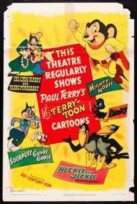 "Terry-Toon Cartoons & Others Lot (20th Century Fox, 1955). One Sheets (4) (27"" X 41"") & Photos (7) (8&..."