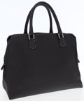 Luxury Accessories:Bags, Fendi Black Leather Selleria Tote Bag with Silver Hardware. ...