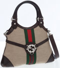 Luxury Accessories:Bags, Gucci Web Stripe & Canvas Reins Bag with Shoulder Strap. ...