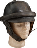 Military & Patriotic:WWI, WWI Roold Style Flying Helmet, Possibly German....