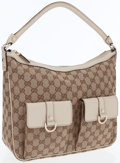 Luxury Accessories:Bags, Gucci GG Monogram Canvas Abbey Pocket Shoulder Bag with SilverHardware. ...