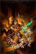 Original Comic Art:Covers, Clyde Caldwell Conan the Undaunted (Endless Quest #19)Gamebook Cover Painting Original Art (TSR, 1984)....