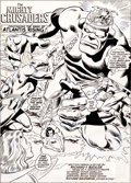Original Comic Art:Splash Pages, Rich Buckler and Frank Giacoia Mighty Crusaders #2 SplashPage 1 Original Art (Archie aka Red Circle, 1983)....