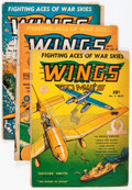 Golden Age (1938-1955):War, Wings Comics Group (Fiction House, 1941-44) Condition: AverageGD.... (Total: 7 Comic Books)