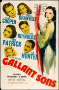"Movie Posters:Mystery, Gallant Sons (MGM, 1940). One Sheet (27"" X 41""). Mystery.. ..."