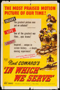 "Movie Posters:War, In Which We Serve (United Artists, 1942). One Sheet (27"" X 41"").War.. ..."