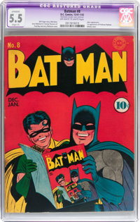 Batman #8 (DC, 1942) CGC Apparent FN- 5.5 Slight (P) Off-white to white pages
