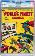 Golden Age (1938-1955):Superhero, World's Finest Comics #9 (DC, 1943) CGC FN 6.0 Off-white to white pages....
