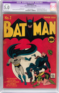 Golden Age (1938-1955):Superhero, Batman #2 (DC, 1940) CGC Apparent VG/FN 5.0 Moderate (P) Cream to off-white pages....