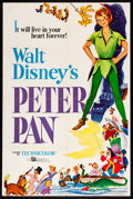 """Movie Posters:Animation, Peter Pan (Buena Vista, R-1969). Trimmed One Sheet (27"""" X 40.75"""").Animation.. ..."""